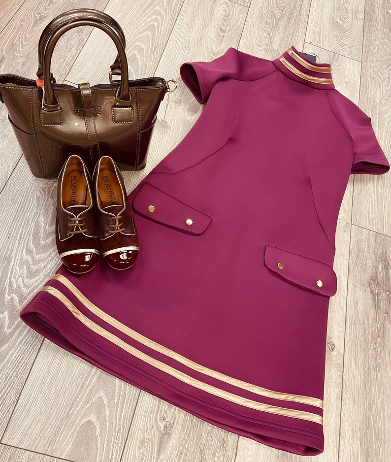 1960s Style Clothing & 60s Fashion 1960s inspired Mod Dress $109.04 AT vintagedancer.com