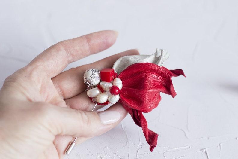 3924913ed3d Unisex pin Men brooch Women brooch lapel pin Red | Etsy