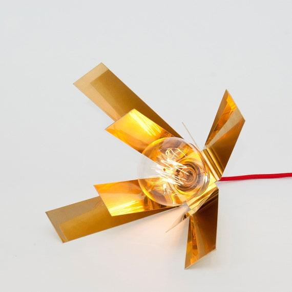 lj lamps lambda double leuchte aus messing etsy. Black Bedroom Furniture Sets. Home Design Ideas