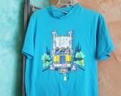 Blue Anvil T Shirt Cartoon Trucker Roadkill Worn Soft Faded Comfortable Vintage Shirt Mens Womens Sale reduced by 50