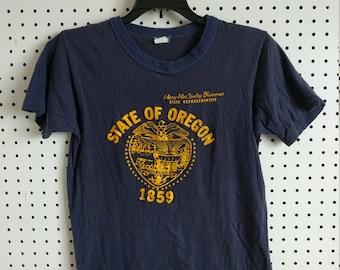 424403100cf2 Oregon State shirt, 80s Vintage T-Shirt Promo Wear