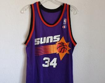 8c2166193ec Charles Barkley Jersey, Champion shirt, Phoenix Suns Basketball Jersey,  Vintage Champion Phoenix Suns Jersey