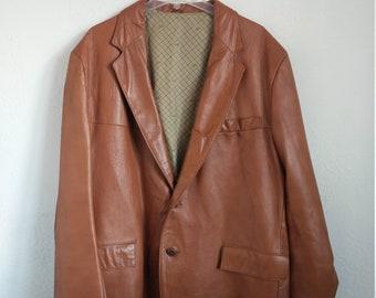 2cb041446cd Leather Blazer Jacket