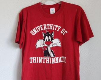 8fe717f0a SylvesterTshirt, 90s Cincinnati tee, Vintage Looney Tunes, Tv Warner Bros  Collectible