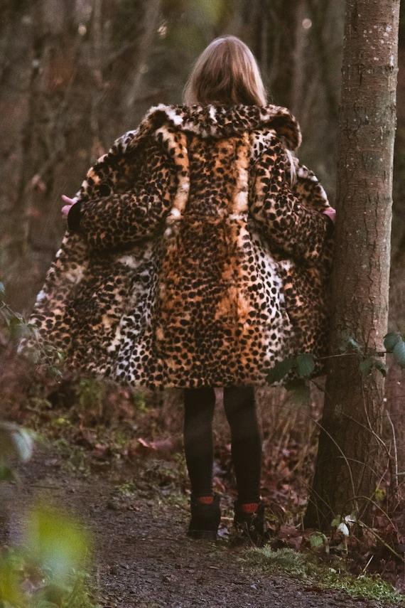 Fur Coat, Leopard print rabbit fur jacket - image 2