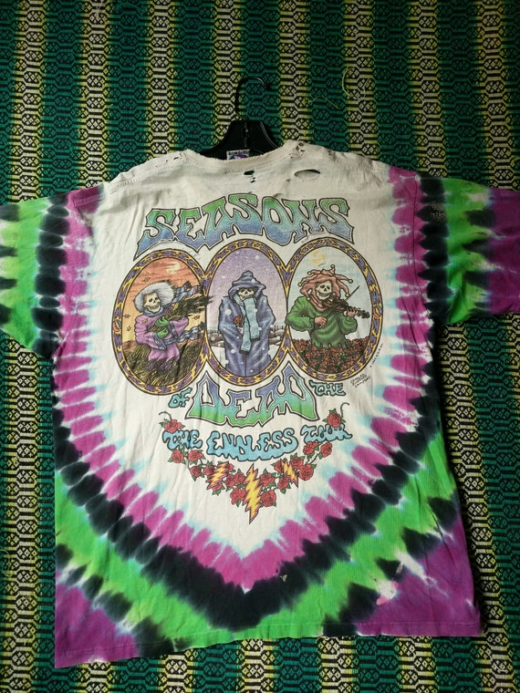 Band Liquid Grateful Dead Die Vintage 1993 Garcia Endless Jerry Bob Tour Dead Tour Grateful Tie Weirr Blue Shirt Shirt TShirt Dye Tee Tye nqfgxOwTCZ
