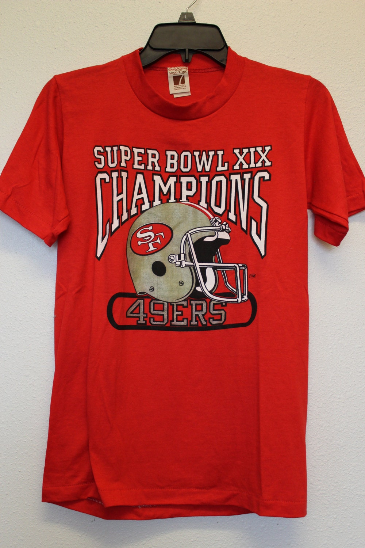 Vintage t-shirt Super Bowl XIX Champions 49ers San Francisco  deef37248