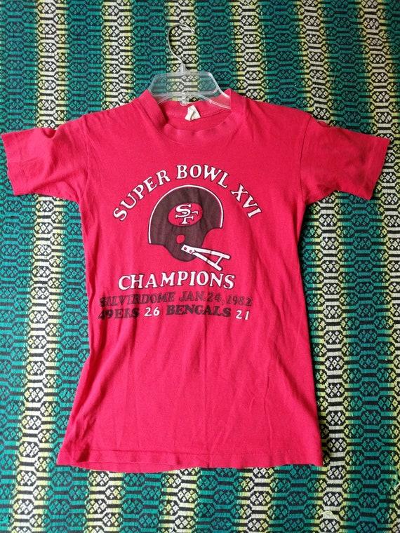 49ers Tshirt Red Vintage Early 80s 49ers Superbowl Tshirt  8f323790b
