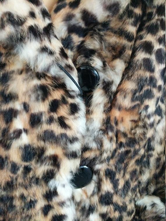 Fur Coat, Leopard print rabbit fur jacket - image 8