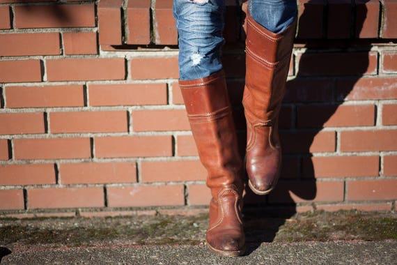 fait cuir dames s 8 Bottes bottes Western l taille Cowgirl en Cowboy dans 5 Frye 80 ' 6AA0I5q