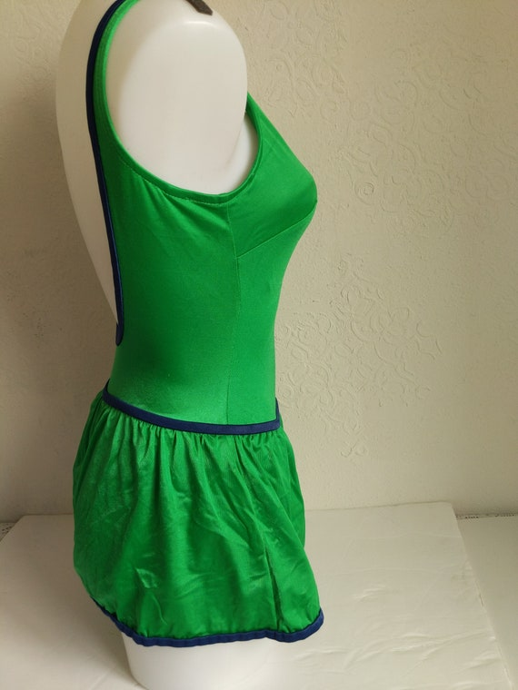 Bombshell Swimwear, 1970s Swimsuit Pin up, one pi… - image 3