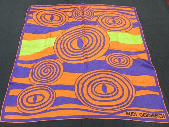 Vintage Rudi Gernreich scarf, Mod, Abstract, Desig