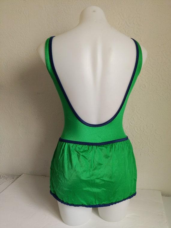 Bombshell Swimwear, 1970s Swimsuit Pin up, one pi… - image 4