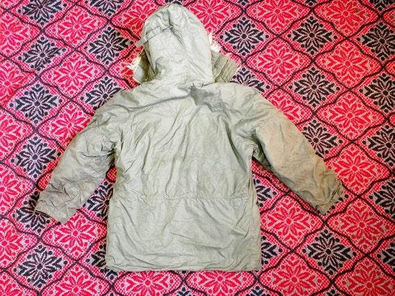 Weather Extreme 3 coat War Army IS N vintage authentic green Cold AS original B Military G Parka era canvas I Medium EqCIwIrxXz