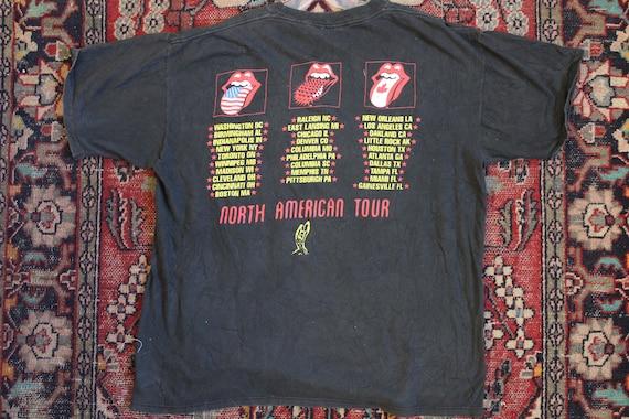 1994 shirt Stones Jagger Lounge shirt authentic 95 cotton original tour Rolling VOODOO Vintage black and Mick rock roll XL qd6gwq