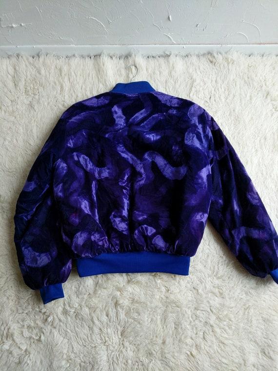 Purple Velvet Bomber Cool Street Soft Velvet Patch Crushed Jacket Wear Weather Dragon Style Dragon Coat Insulated Coat Custom rzWrcqwt6n