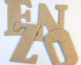 Letter to be laid in raw wood to paint and decorate for decoration, children's first name, etc...