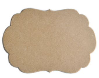 """Frame """"Cloud"""" made of wood (MDF) raw to paint."""