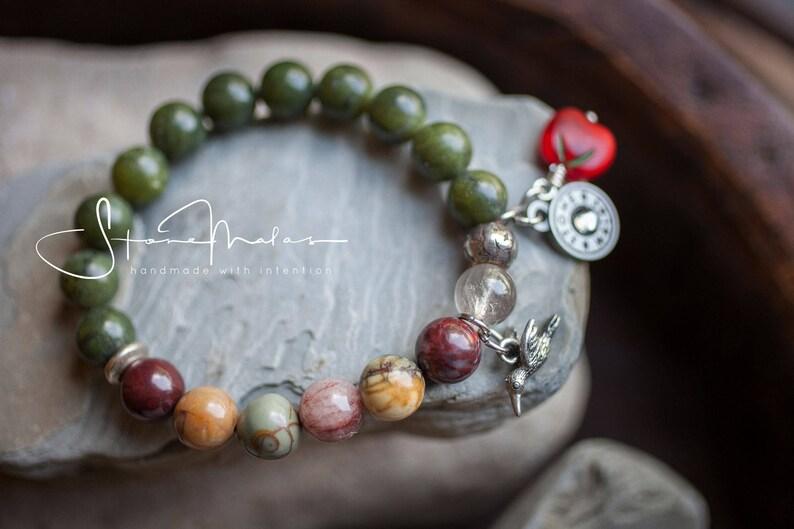 Late Bloomer Garden Collection StoneMalas Bracelet image 0