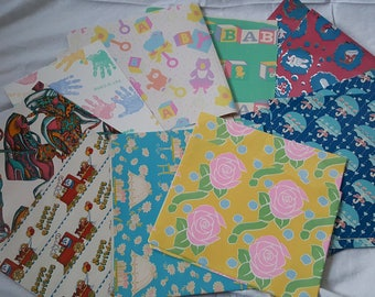 Vintage Gift Wrapping Paper - Baby Shower and Children's Birthday
