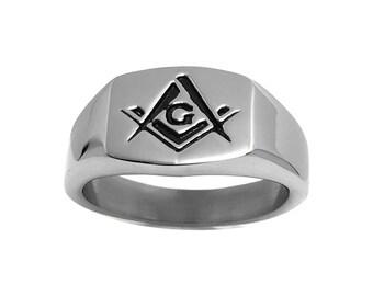 Mens masonic ring | Etsy
