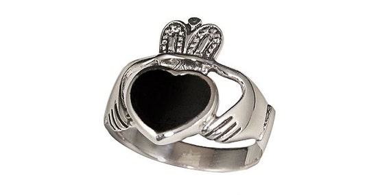 Sterling Silver Men/'s Claddagh Ring R436