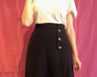 Black Vintage Miniskirt