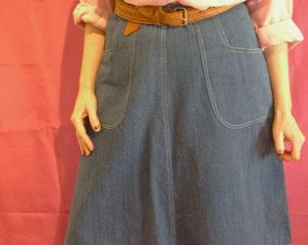 Vintage MIDI Jeans skirt