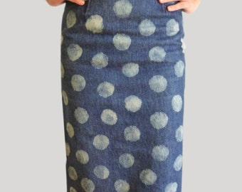 JEANS UPCYCLED SKIRT