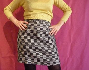 Black and white vintage miniskirt