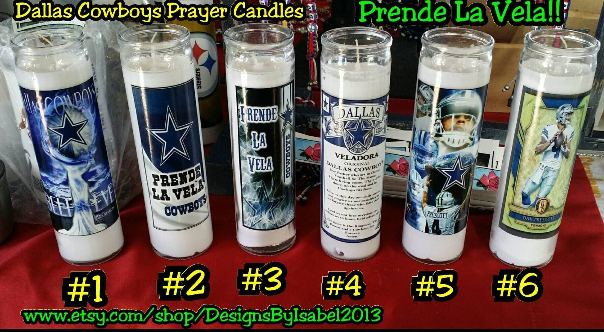 Cowboys Prayer Candle Premium Vinyl Decals Prenda La Vela ...