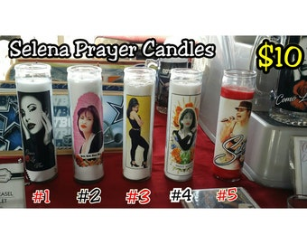 SELENA PRAYER CANDLES