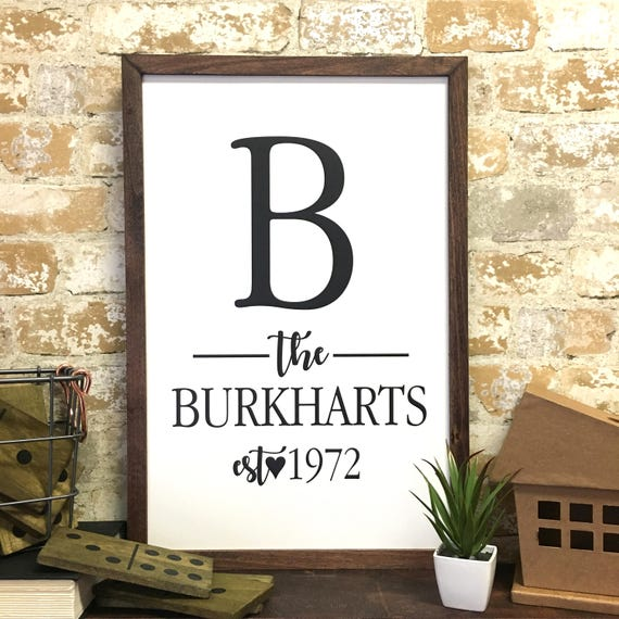 Gifts For A Farmhouse Decor Fan: Personalized Family Name Farmhouse Print Farmhouse Decor