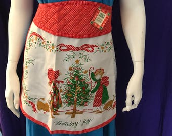 Vintage Holly Hobbie Christmas apron, never been used. Tags attached.