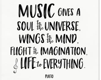 Quotes About Music Etsy