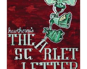 Scarlet Letter - Literary Art Poster