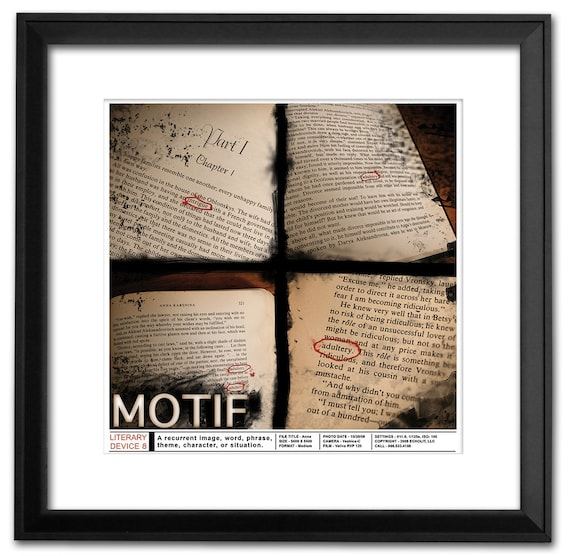 Literary Devices II Educational Poster Set  Discount Classroom Bundle  Featuring Symbolism, Irony, Theme, Motif, Tone and Point of View