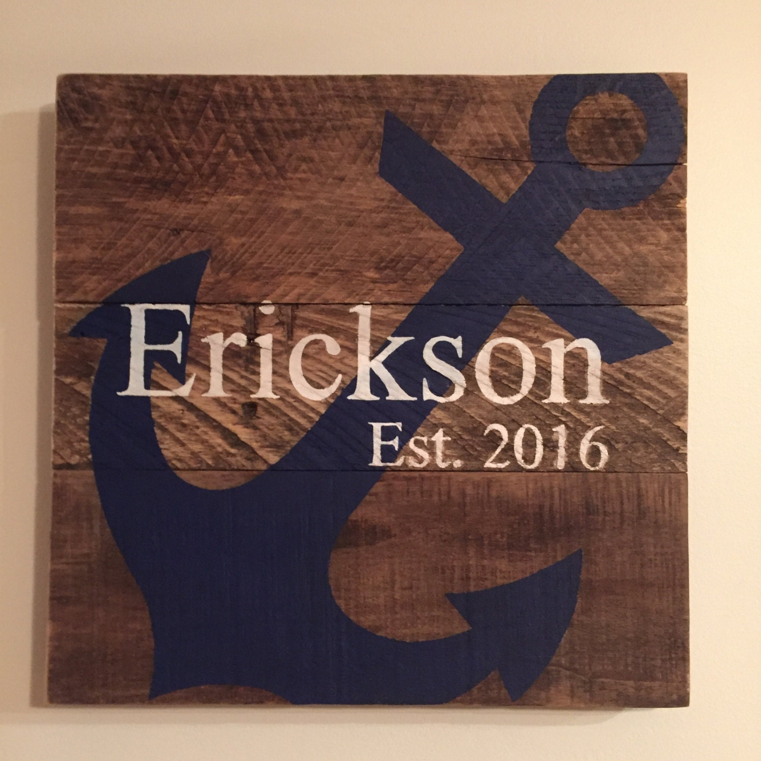 Custom Anchor Sign Personalized Gifts For Her Gifts For Him