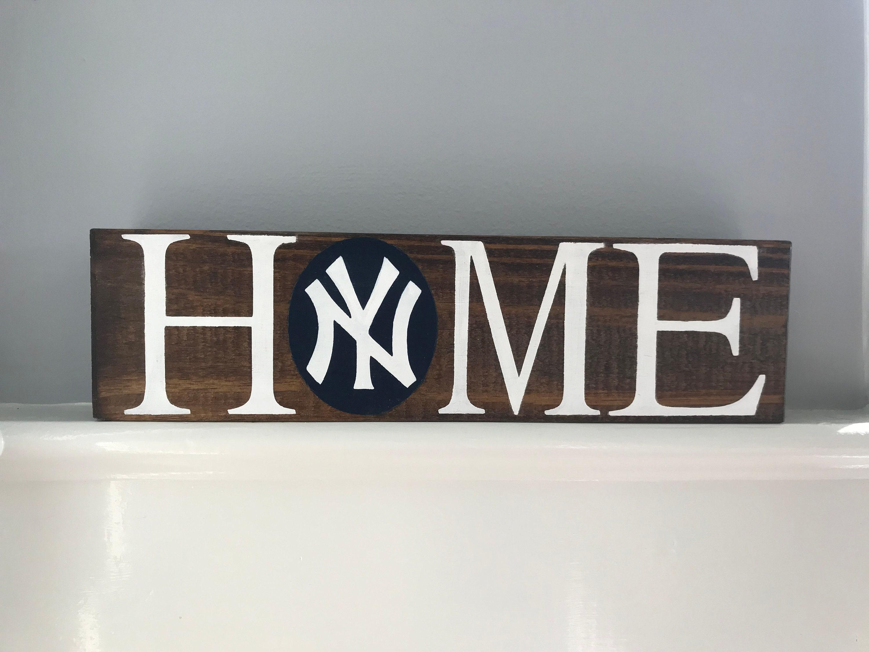 New York Yankees HOME Block // New York // Yankees // Gift for Him // Gift for Her // Graduation // Baseball