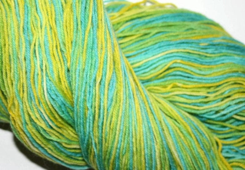 Hand Dyed Yarn Colorful Yarn Sock Weight 4 Ply