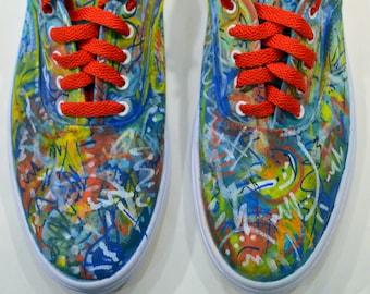 Dissonance - handpainted shoes