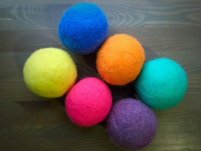 Ovella Wool Dryer Balls: The Doces Collection  set of Six 6 image 0