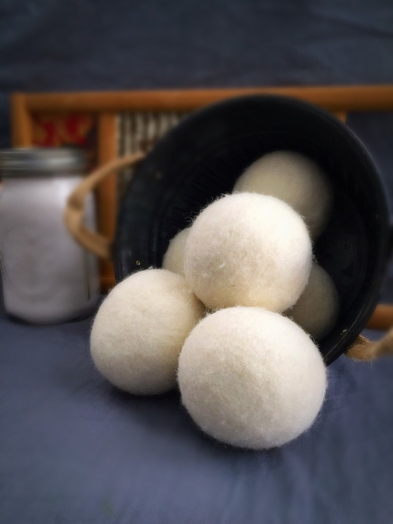 Ovella Wool Dryer Balls: The Crema Collection  Set of Nine image 0