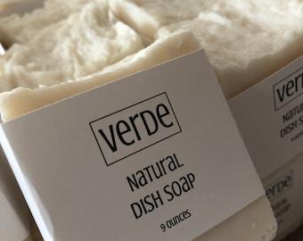 Verde Natural Dish Soap 2 Bars - FREE SHIPPING