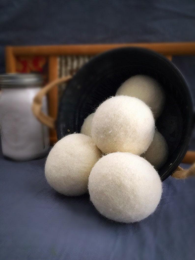 Ovella Wool Dryer Balls: The Crema Collection Set of Six 6 image 0