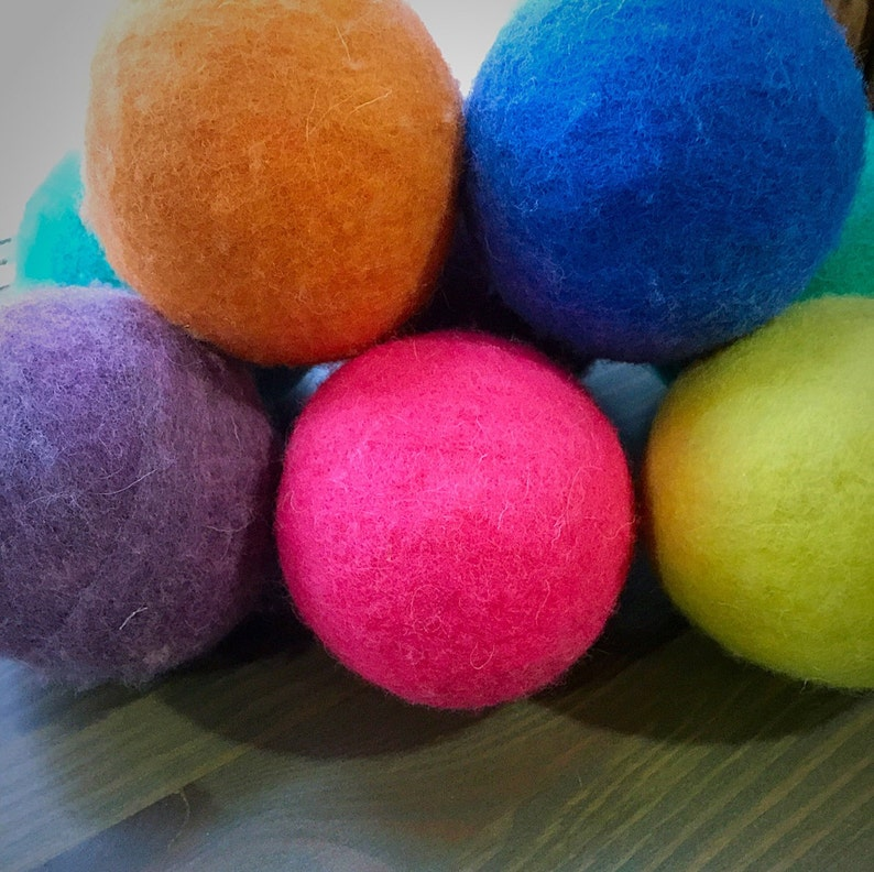 Ovella Wool Dryer Balls: The Doces Collection set of Nine 9 image 0