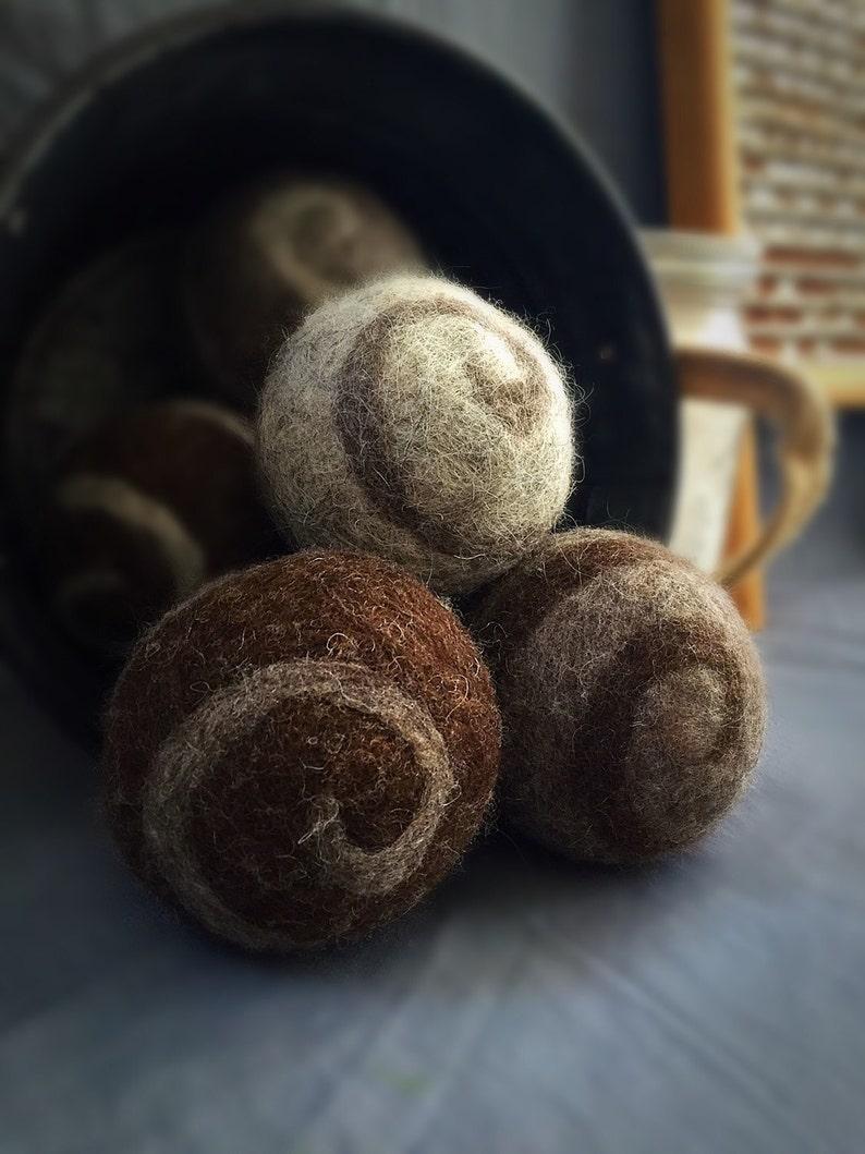 Ovella Wool Dryer Balls The Lixo Swirl Collection. Set of image 0