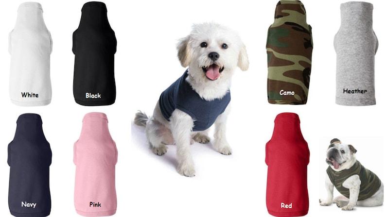 Blank Dog Shirts For Printing Vinyl Embroidery Dog T Shirt Etsy