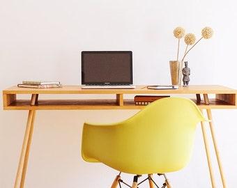 Home Office Desk, Solid Wood Desk, Dorm Room Decor , Computer Desk, Industrial Desk, Home Office Desk, Desk Storage, Modern Wooden Desk