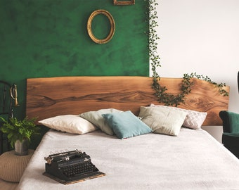 Wood Headboard King, Queen Available In Oak, Walnut, Pine, Multiple Sizes Available